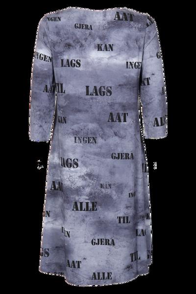 Bilde av Hallfrid Grå art kjole