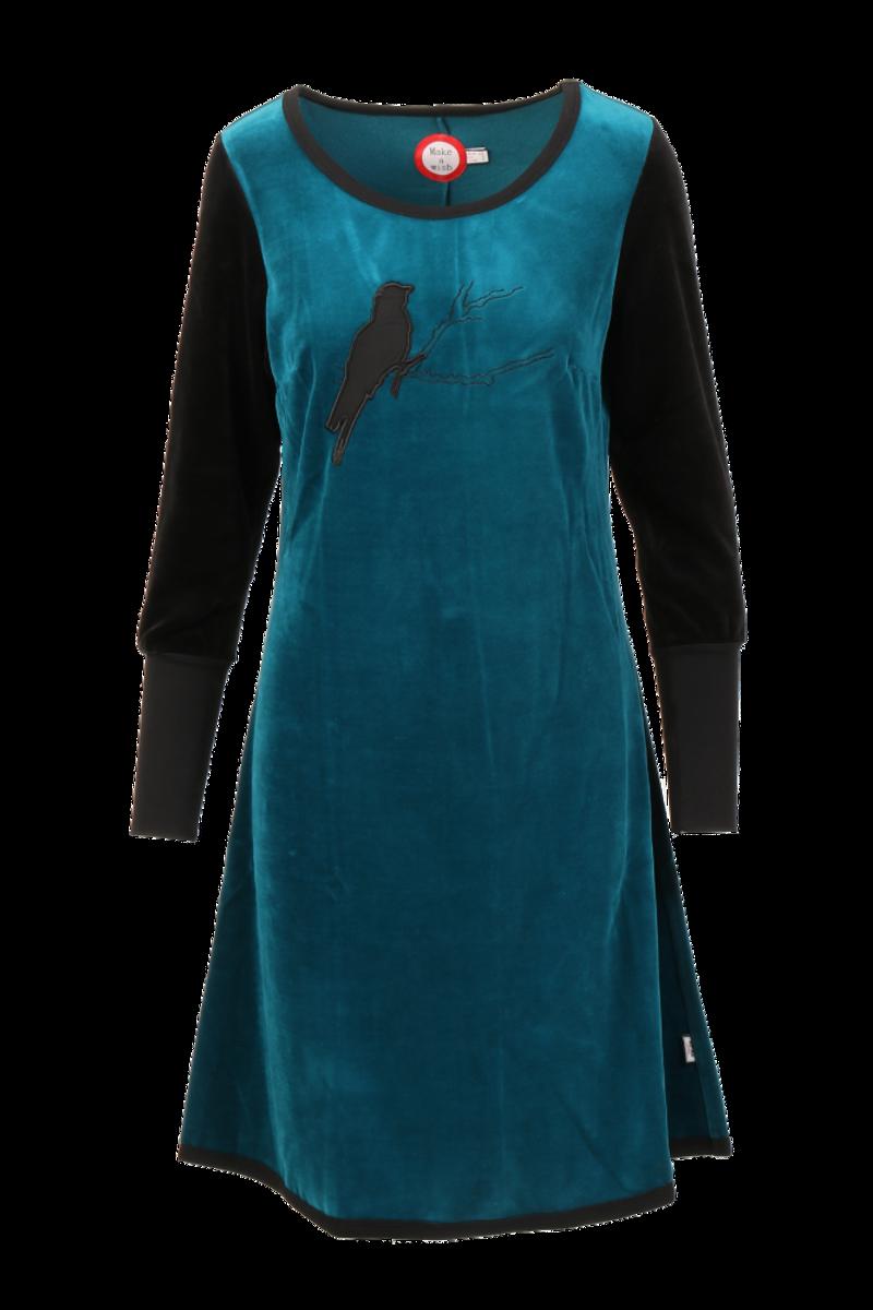 Sonja petrol velur kjole