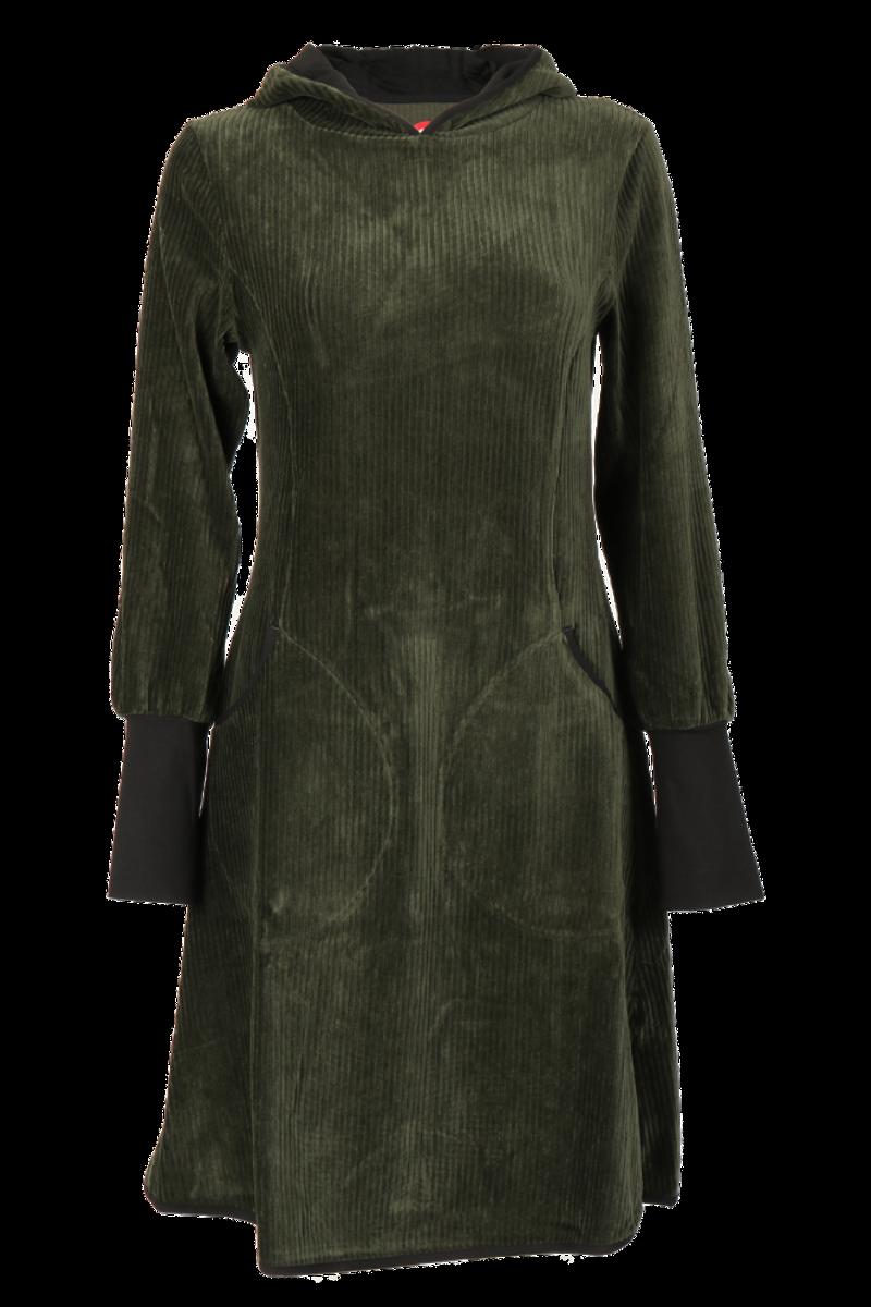 Kjerstin kombogrønn hettekjole