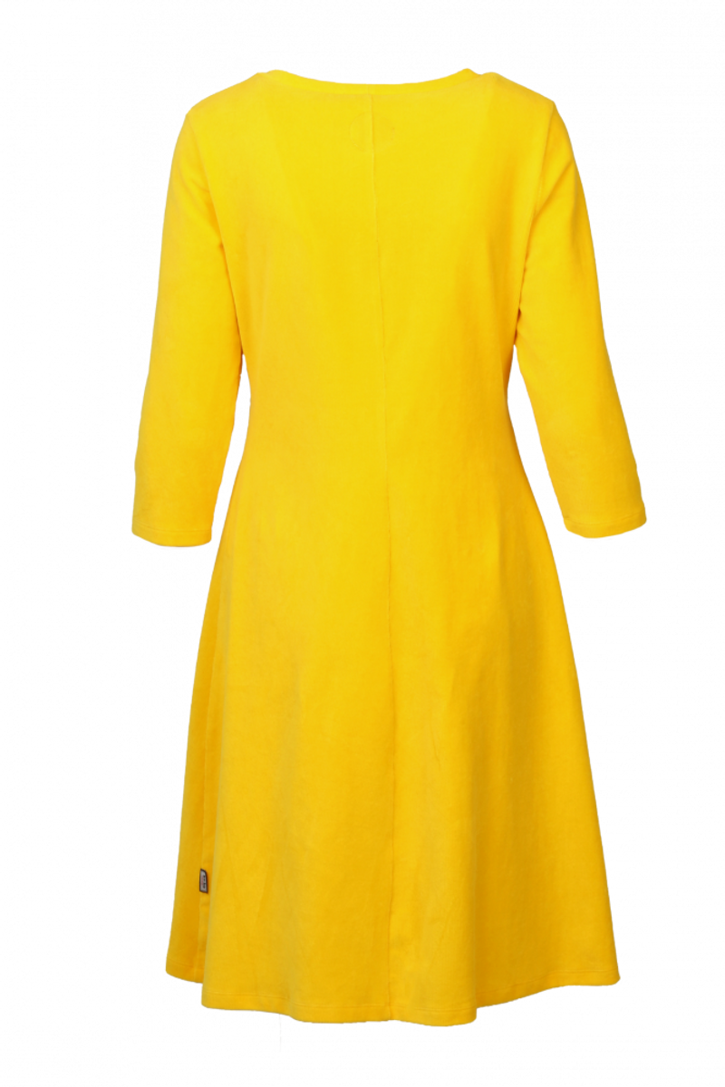 Elli kjole babycord gul