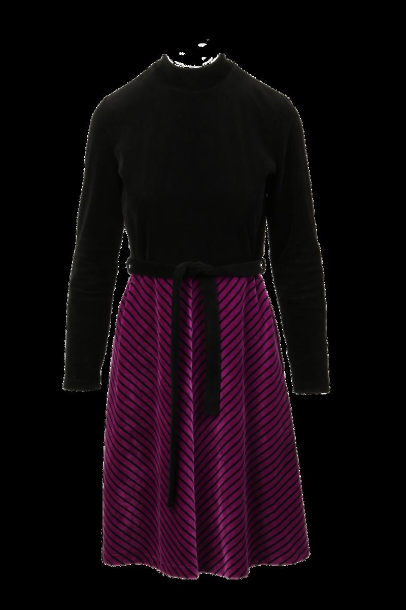 Leticia purple velurkjole