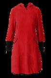 Bilde av Kjerstin rød hettekjole