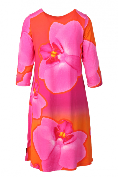 Bilde av Orkide kjole rosa oransje D67