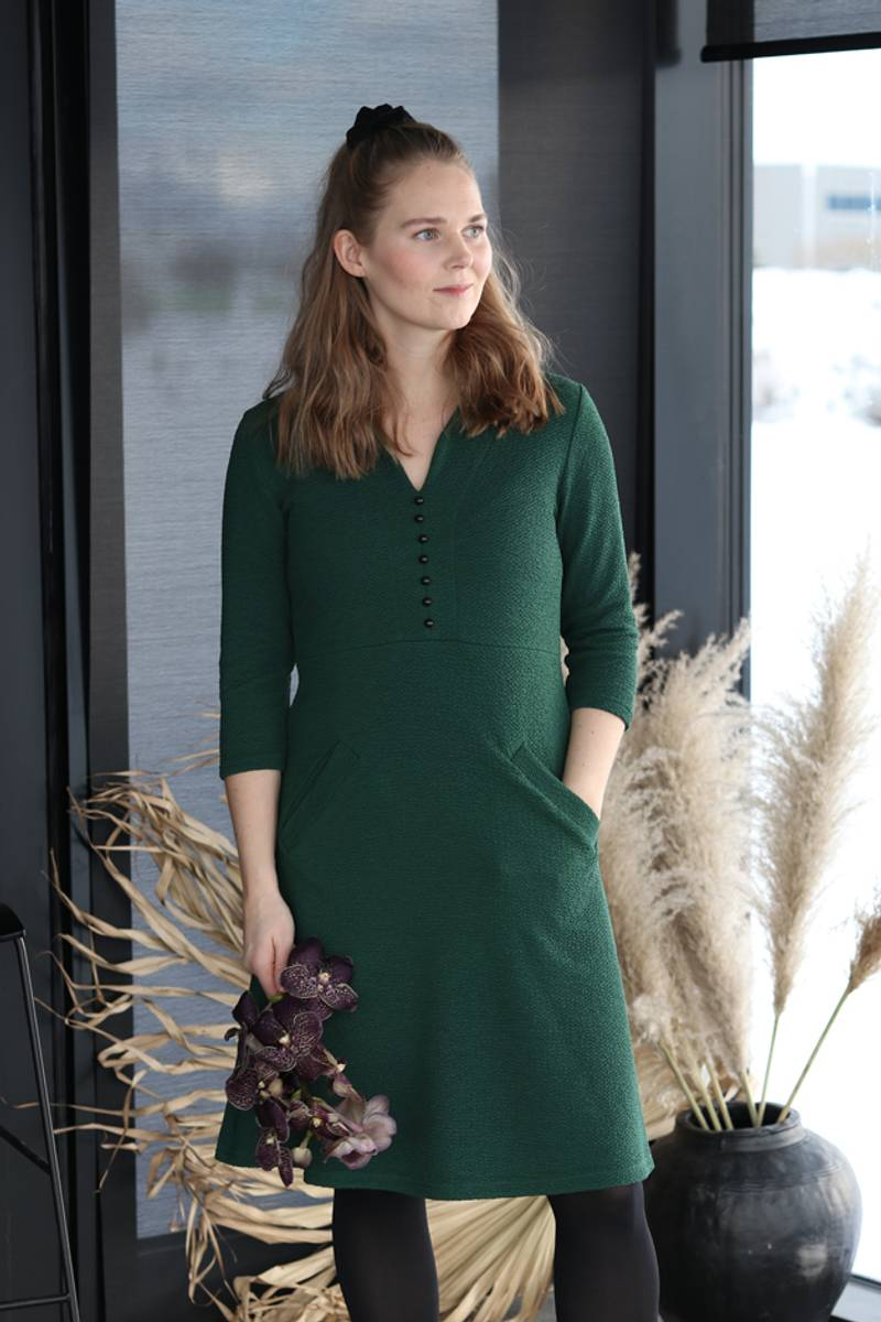 Susanna jungelgrønn kjole