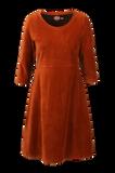 Bilde av Elli kjole babycord rust