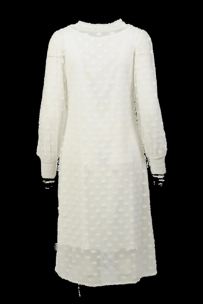 Maud hvit kjole
