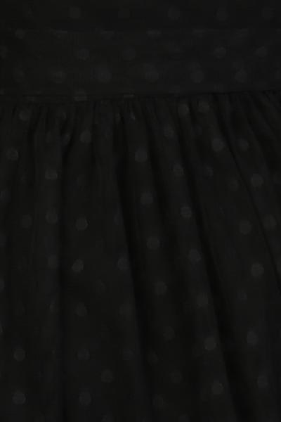 Bilde av Elly sort prikkete chiffon