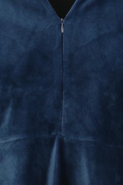 Bilde av Louise kjole babycord blå