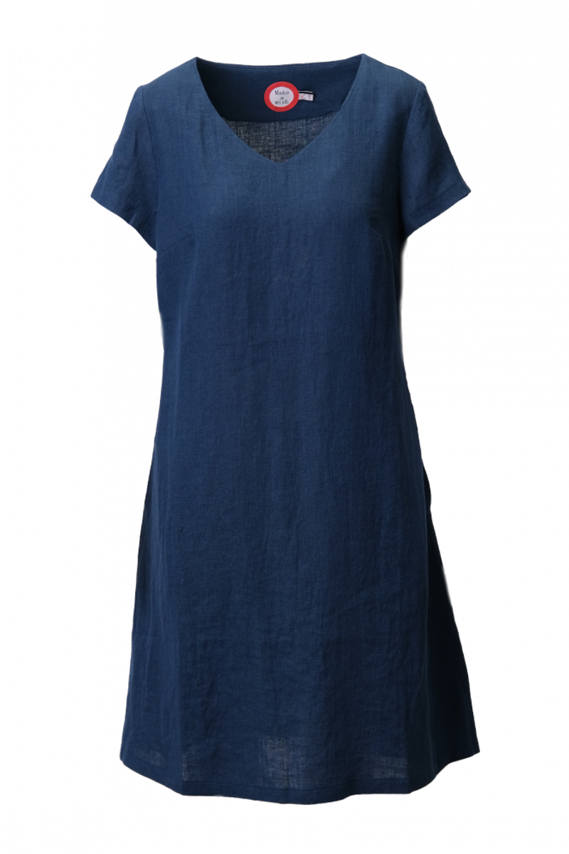 Hannalena marineblå linkjole