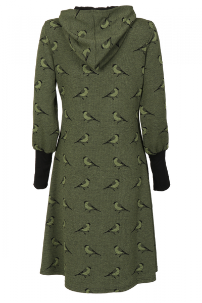Bilde av Agna grønn dompap hettekjole