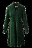 Bilde av Louise kjole babycord grøn