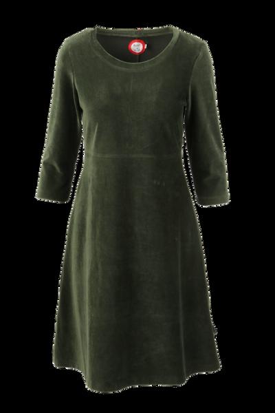 Bilde av Elli kjole babycord grønn