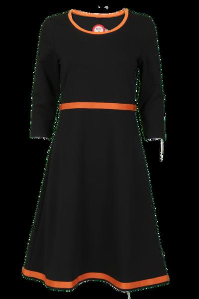 Image of Magda black and orange dress
