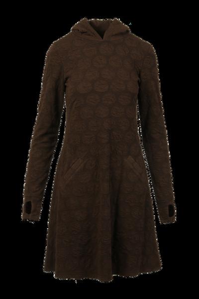 Image of Jannike brown hoodiedress