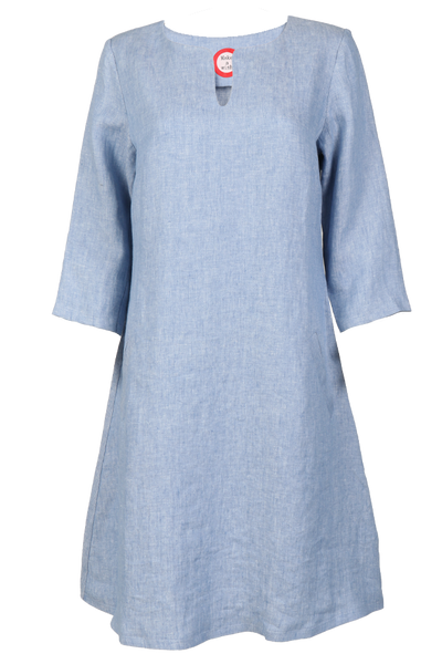 Image of Hera light blue linnen dress