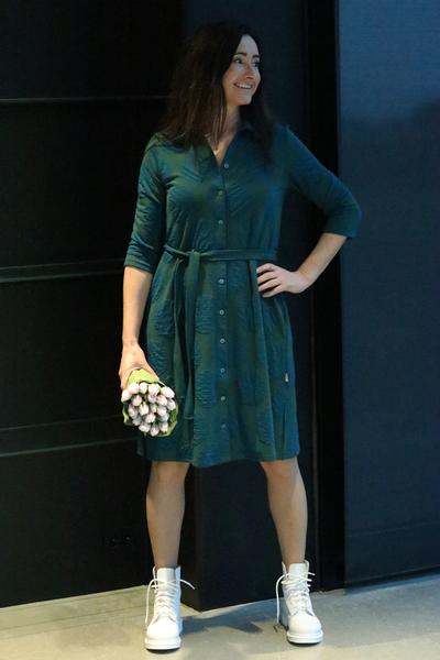Image of Leila jungel petrol dress