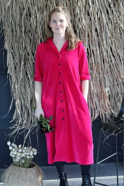 Image of Giselle pink shirt dress