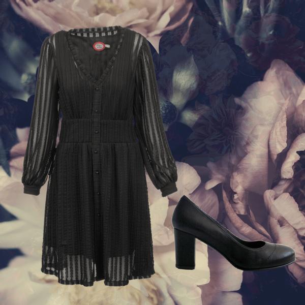 Image of Vivvi black dress shop the