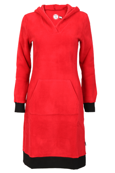 Image of Hulda red fleece dress