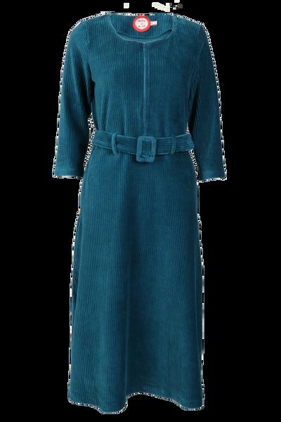 Image of Mariann petrol velvet dress