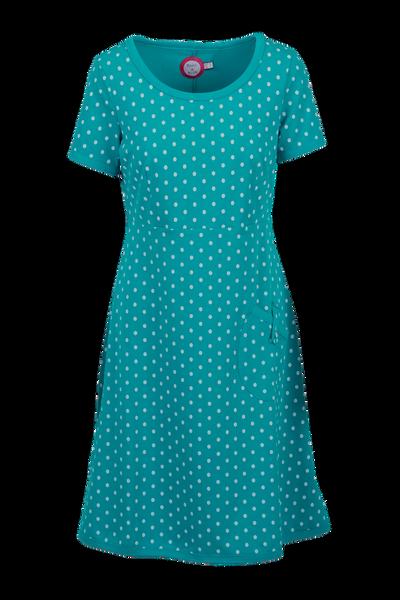 Bilde av Fia petrol och vit klänning