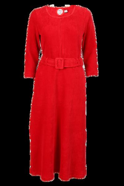 Image of Mariann red velvet dress