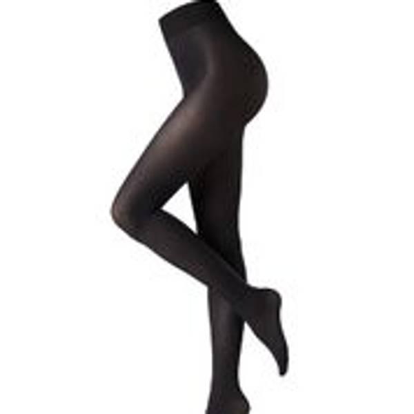 Image of Oroblu eco black satin tights