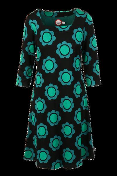 Image of Liva dress black green petrol