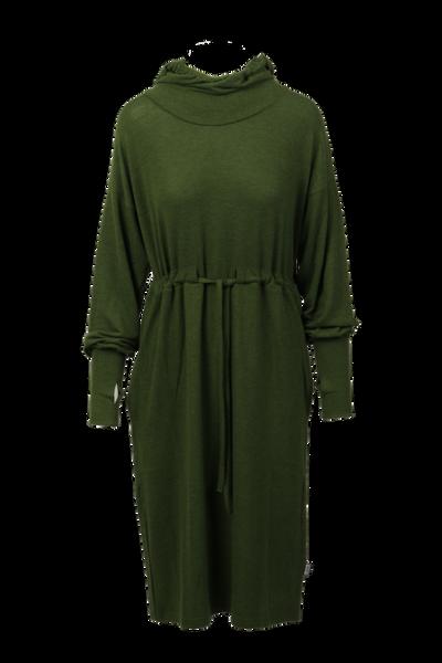 Image of Miriam soft hoodiedress green