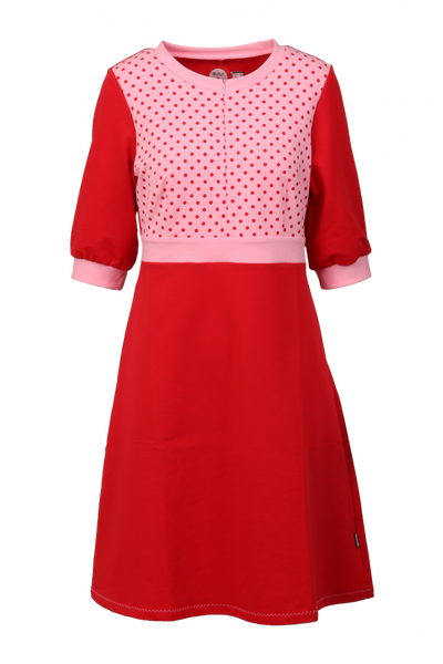 Image of Marita red and pink dress
