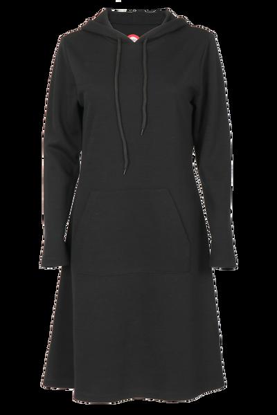 Image of Thea black merinowool dress