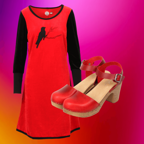 Image of Sonja red shop the look