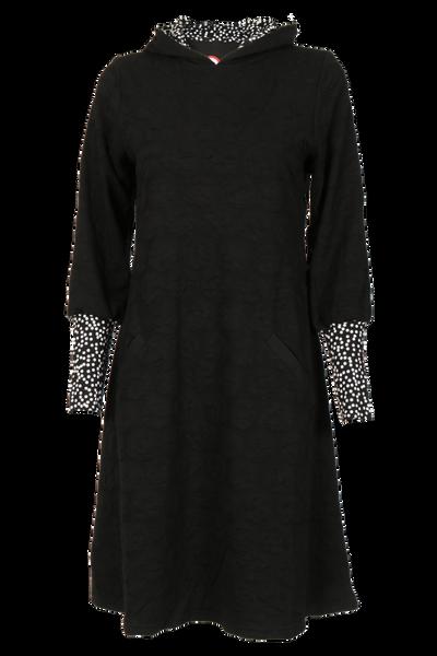 Image of Johanne black hoodiedress