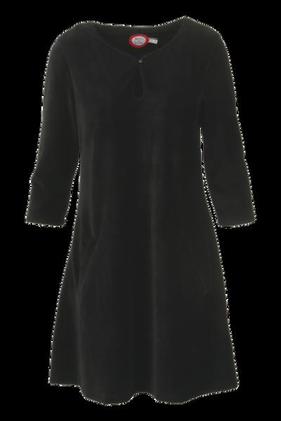 Image of Margrete black babycord tunic