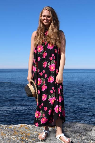 Image of Rosehips pink dress D66