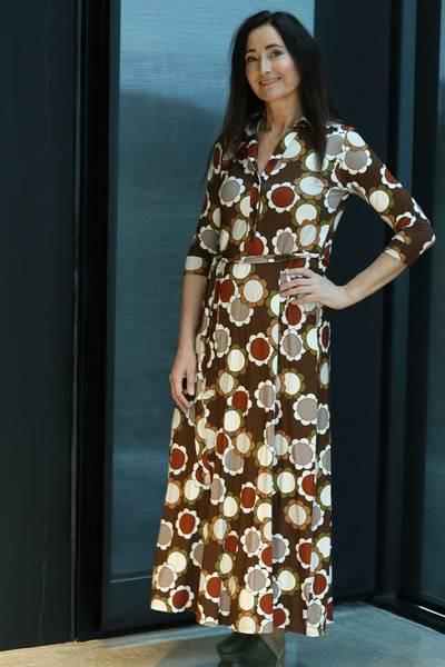 Image of Hilary dress brown flower