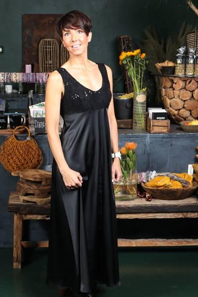 Image of Sophia black evening dress