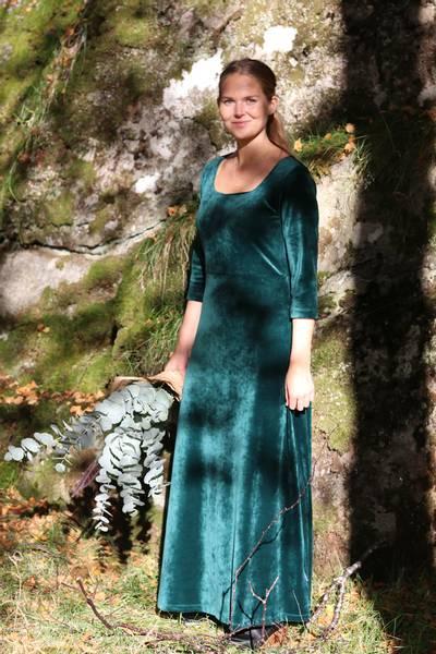 Image of Aya green eveningdress