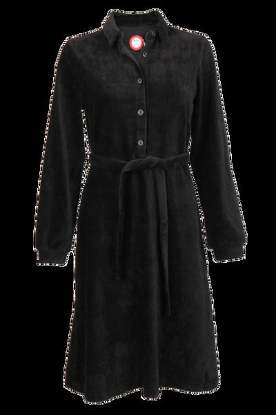 Image of Tara black velvet dress