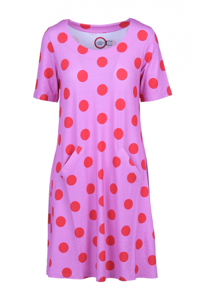 Image of Paola pink and red polkadot