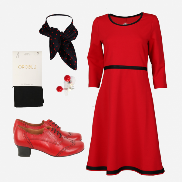 Image of Magda red shop the look