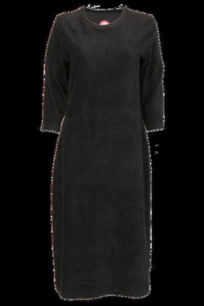 Image of Malla black velvet dress