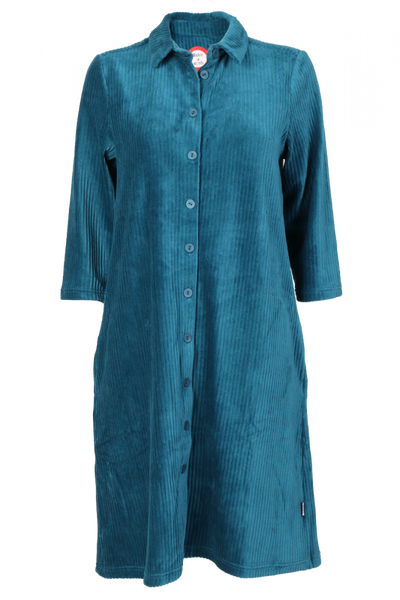 Image of Katinka petrol velvet dress