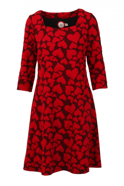 Image of Fanni red heart dress
