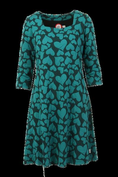 Image of Fanni petrol heart dress