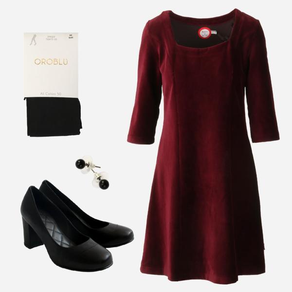 Image of Milla bourdeaux shop the look