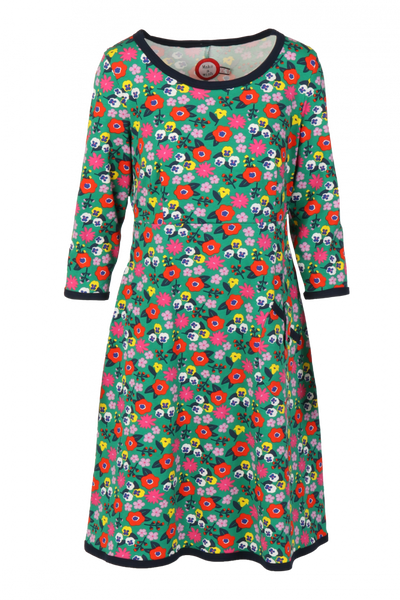 Image of Roos green colorful dress