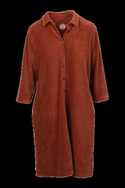 Image of Katinka rust velvet dress