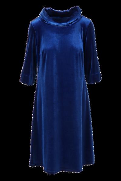Image of Vigdis blue velvet dress