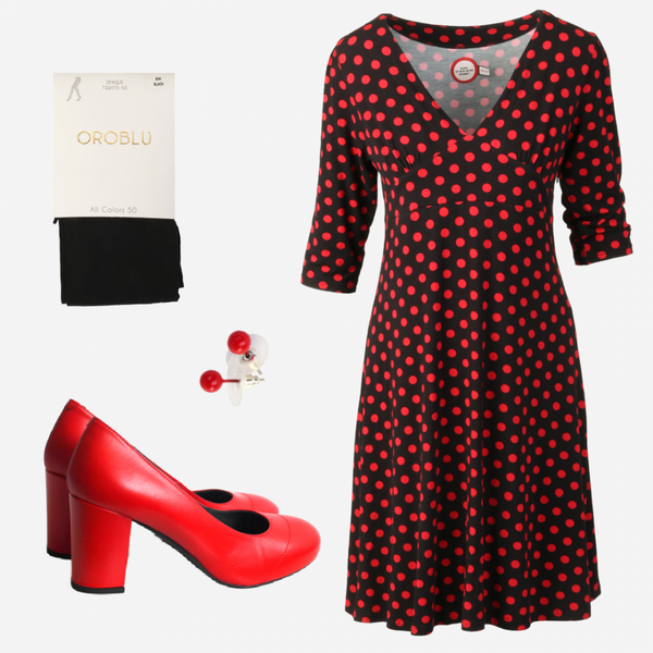 Image of Eirin black red shop the look